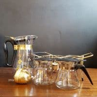 Pyrex Gold Clover Vintage Tea and Coffee Set